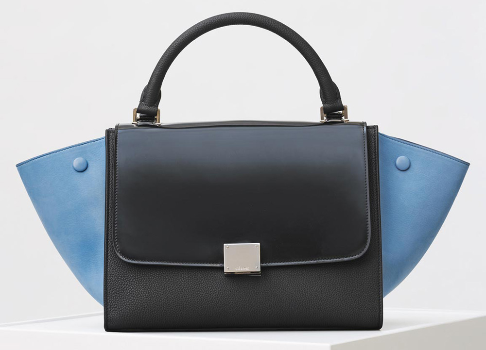 Celine-Trapeze-Bag-Blue-Black-2700