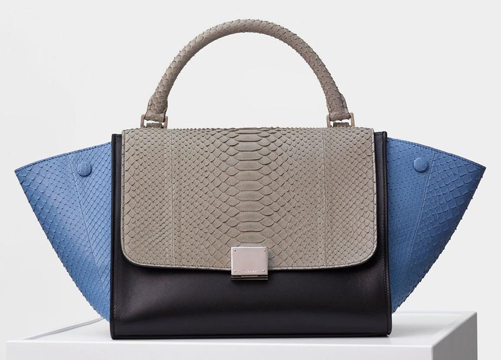 Celine-Trapeze-Bag-Blue-Python-4500