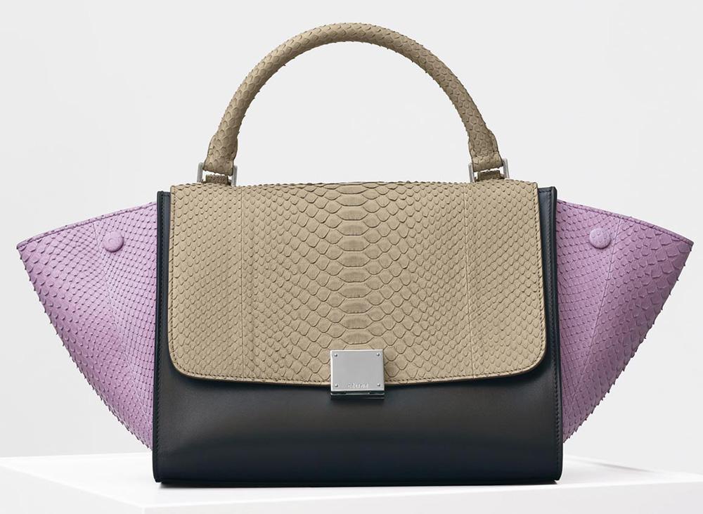 Celine-Trapeze-Bag-Python-4500
