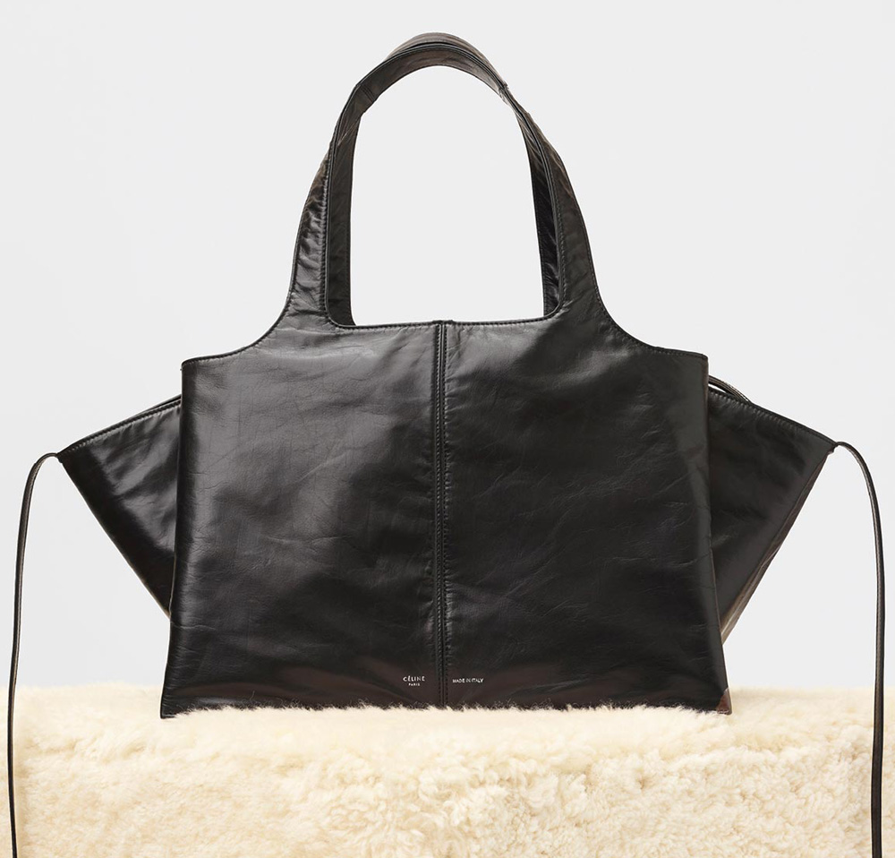 Celine-Tri-Fold-Shoulder-Bag-Black-3750