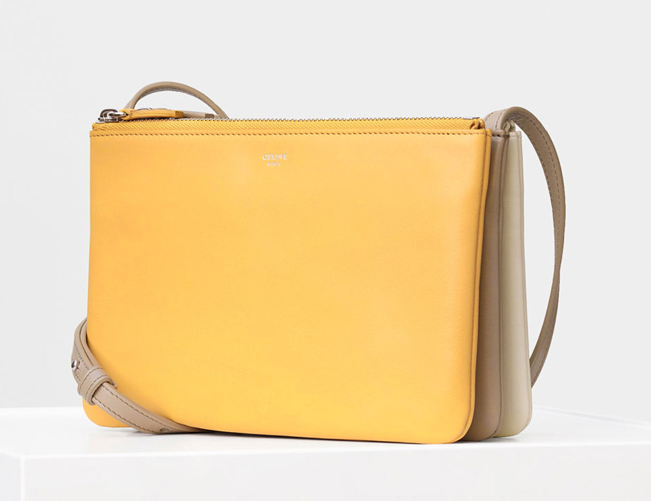 Celine Trio Shoulder Bag Yellow 1150
