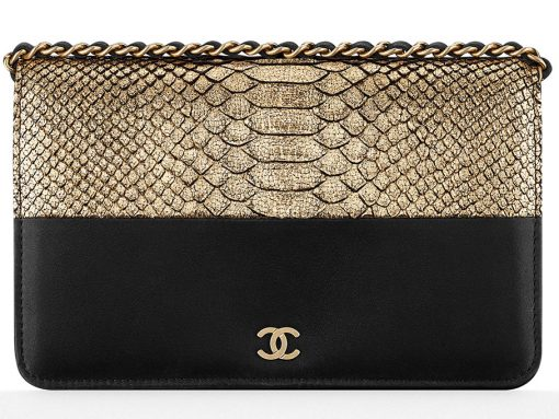 Chanel-Python-Wallet-on-Chain-Bag