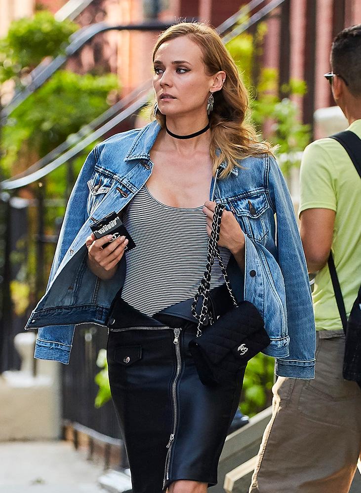 Diane-Kruger-Chanel-Classic-Flap-Bag