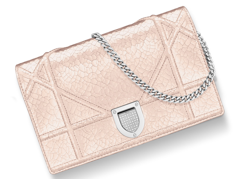 Dior-Diorama-Chain-Wallet-Rose-Gold