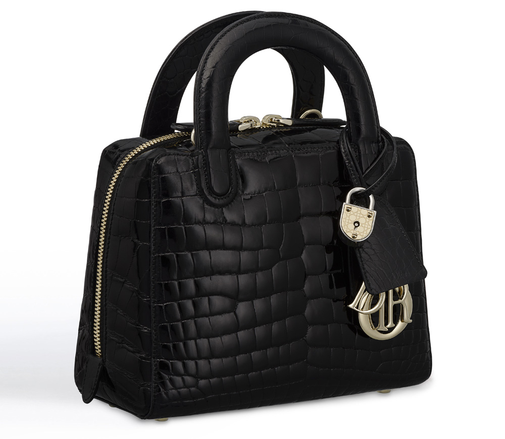 Dior-Lily-Bag-Alligator-Black