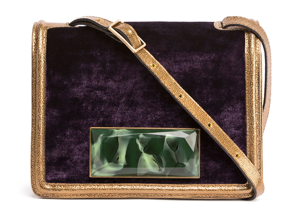 Dries-van-Noten-Velvet-Shoulder-Bag
