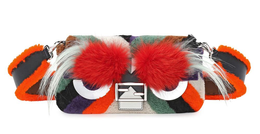 Fendi-Baguette-Monster-Mixed-Fur-Bag