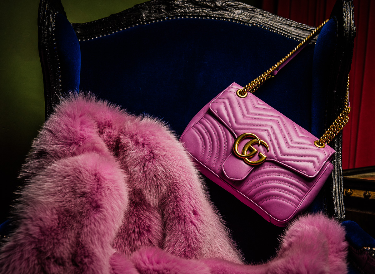 Gucci Pink GG Marmont Matelassé Shoulder Bag