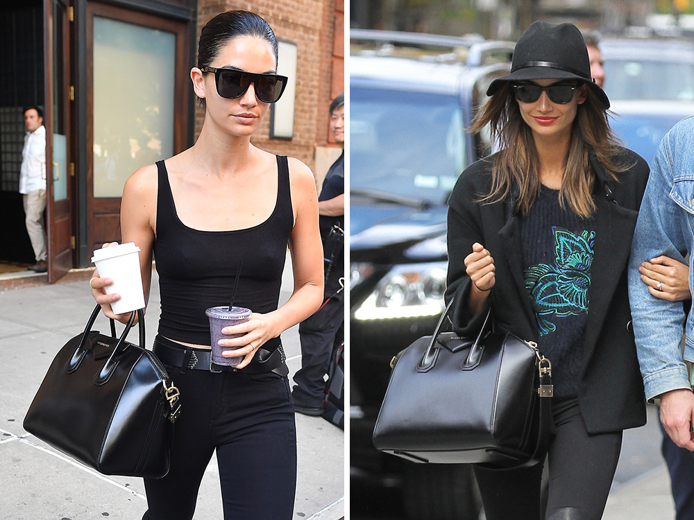 b33611f80ccc Just Can t Get Enough  Lily Aldridge and Her Givenchy Antigona Bag ...