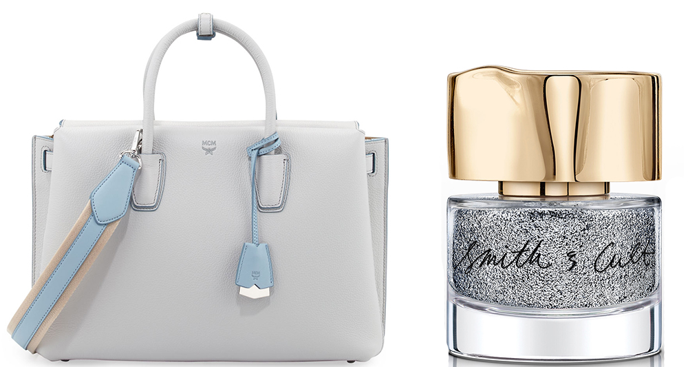 MCM Milla Leather Tote: $920 via Neiman Marcus  Smith & Cult Teen Cage Riot Nail Polish: $18 via Bergdorf Goodman