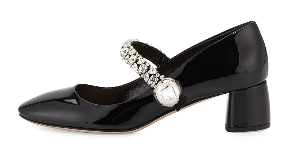 Miu Miu Jewel-Strap Mary Jane Pump