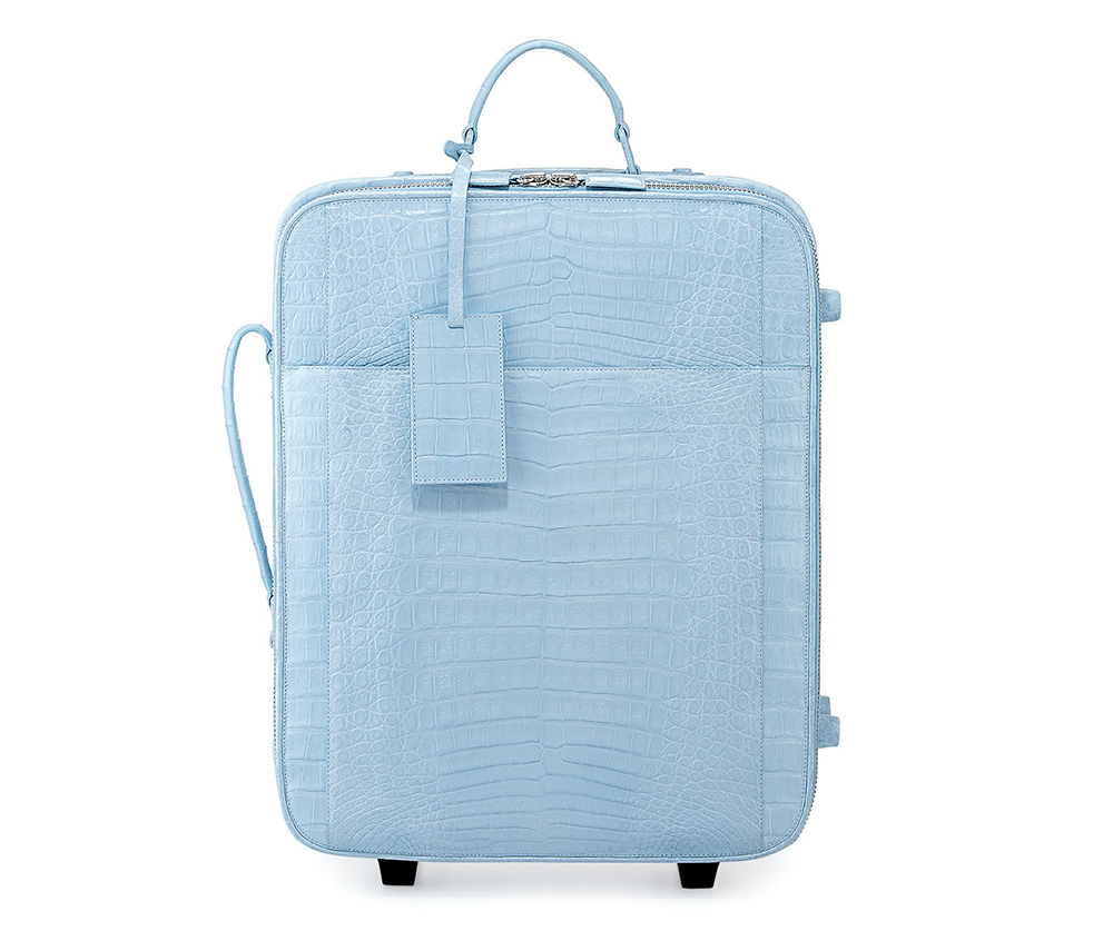 Nancy Gonzalez Crocodile Small Trolley Roll Aboard Suitcase
