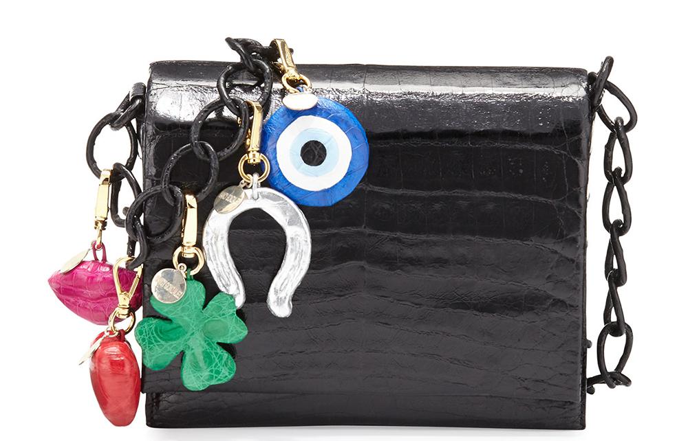 Nancy Gonzalez Gio Crocodile Charm Crossbody Bag