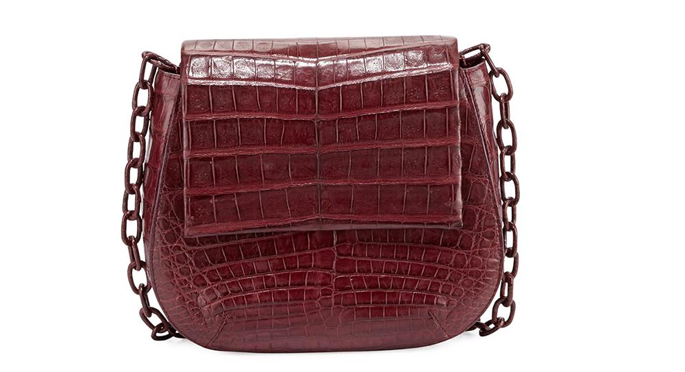 Nancy Gonzalez Round Flap-Top Crocodile Crossbody Bag,