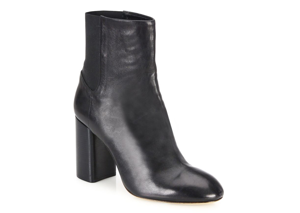 Rag and Bone Agnes Leather Block-Heel Booties