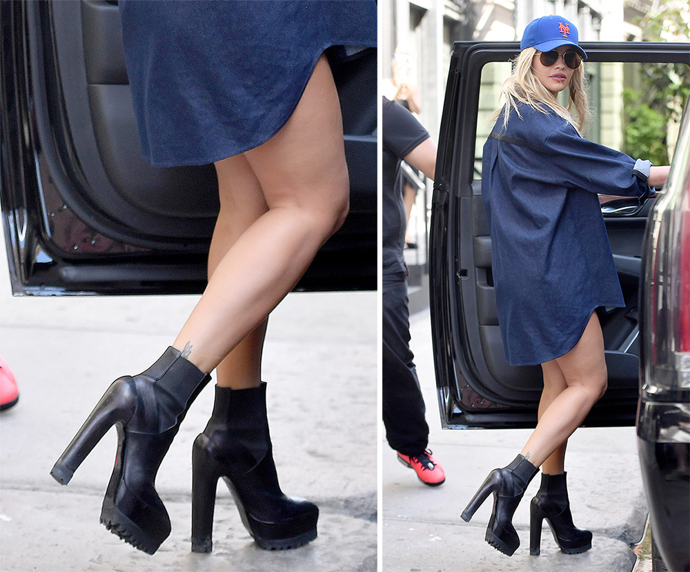 Rita Ora Models Popular New Shoes From Dior Gucci And