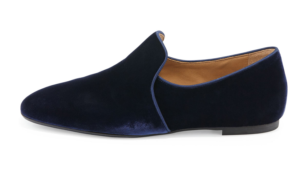 The Row Alys Velvet Loafer Flat