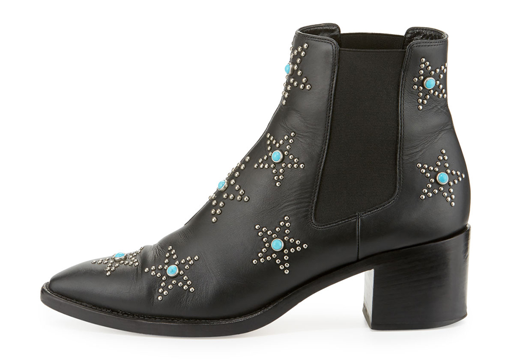 Valentino Hologram Star-Studded Leather Boot