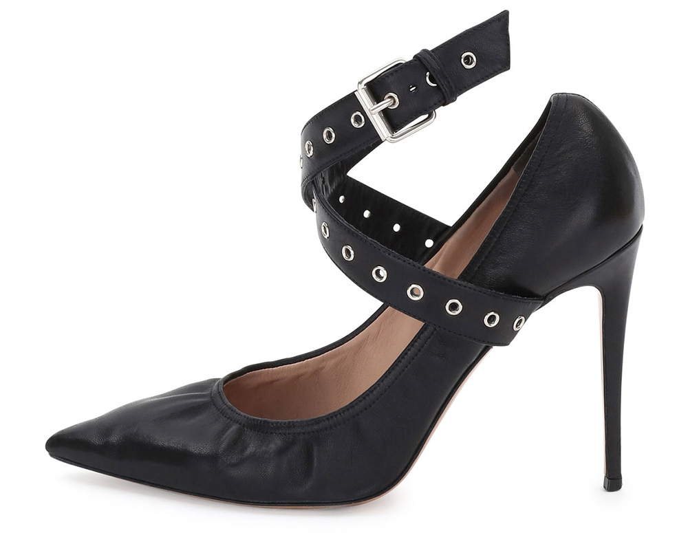 Valentino Love Latch Ankle-Wrap Pump