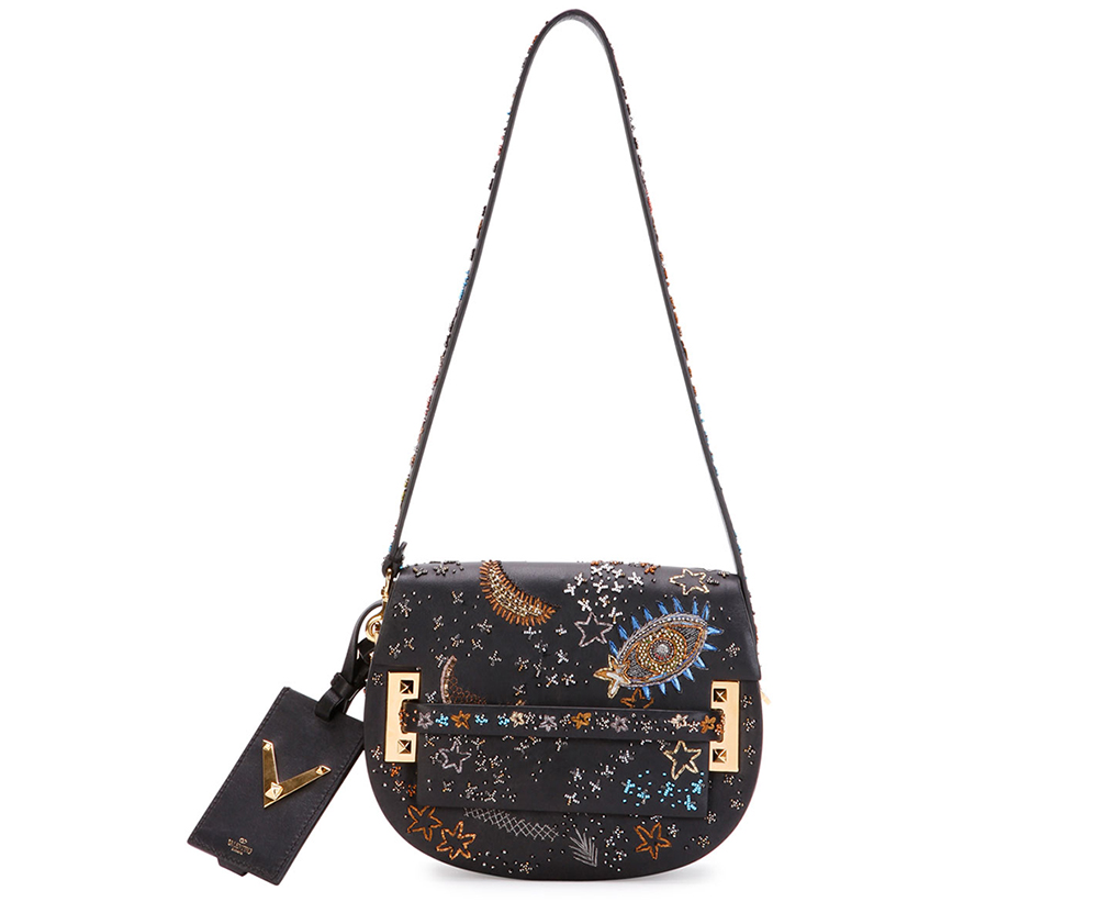 Valentino My Rockstud Embellished Saddle Bag,