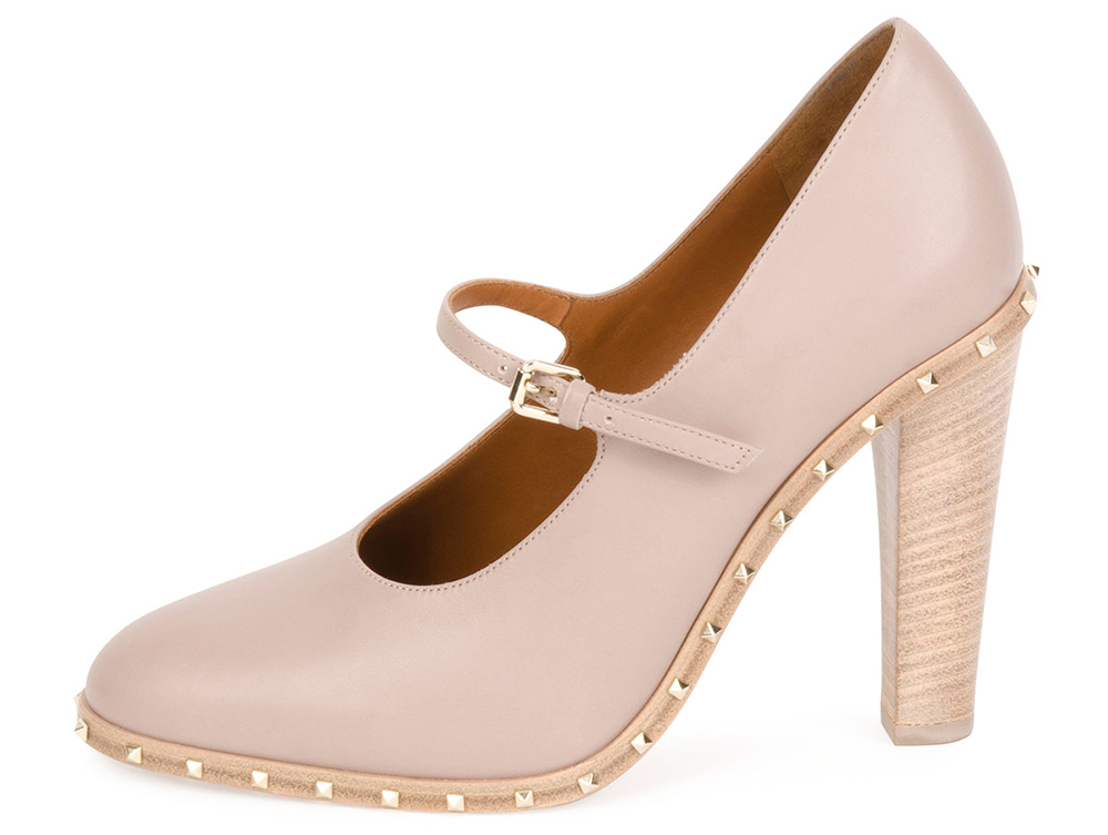 Valentino Soul Stud Rockstud Leather Mary Jane Pump