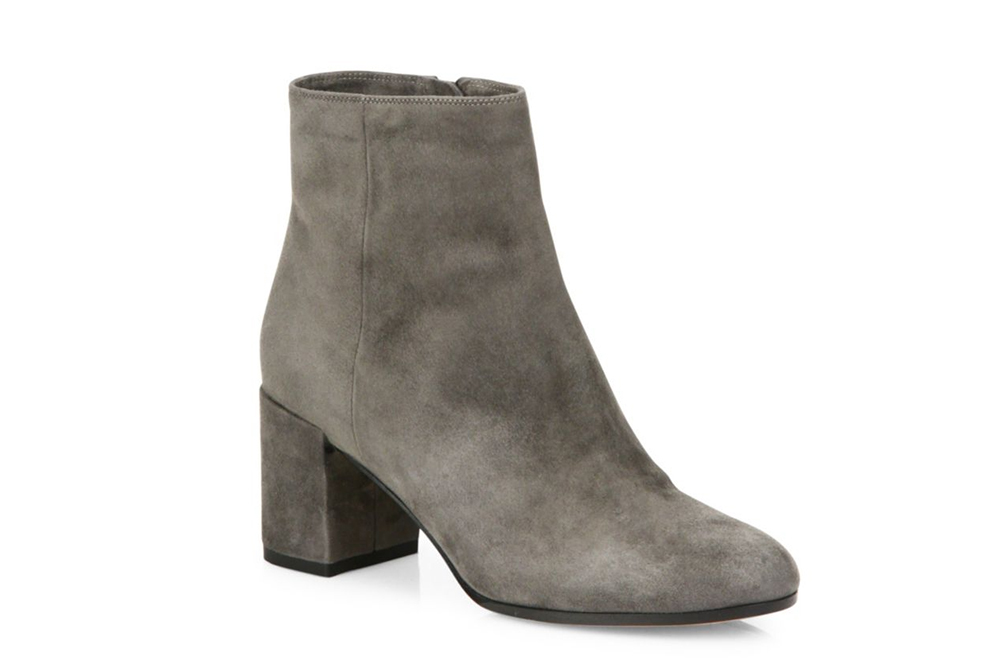 Vince Blakely Suede Block-Heel Booties