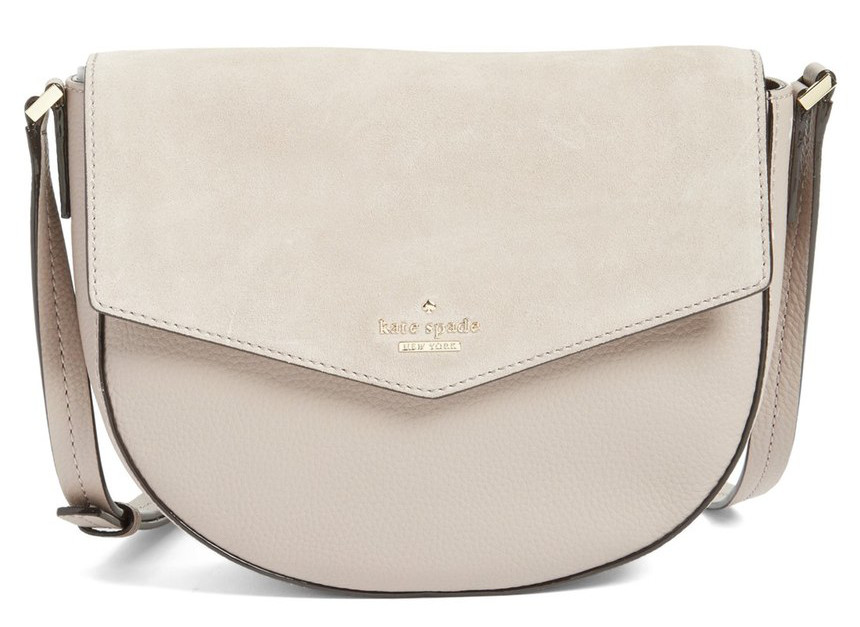 kate spade new york spencer court lavinia leather and suede crossbody bag
