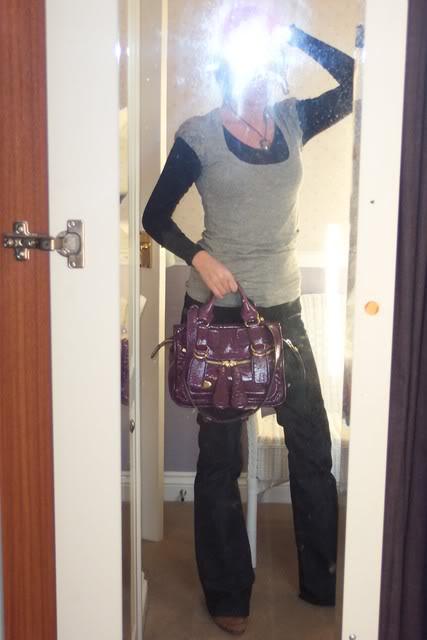 tPF Member: Balchlfen Bag: Chloé Small Bay Bag in Violet Patent  Shop: Similar styles via Net-a-Porter