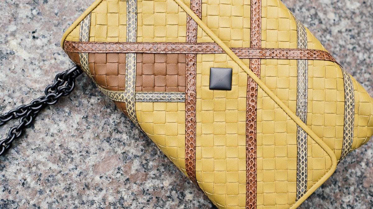 Bottega Veneta Olimpia Intrecciato Bags Yellow