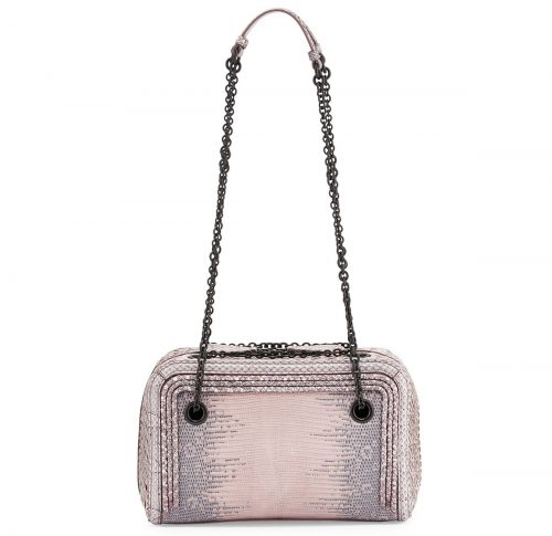 Bottega Veneta Snakeskin Zip Around Bag