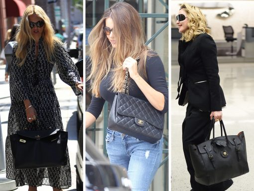 How Celebrities Carry The Saint Laurent Classic Monogram ...