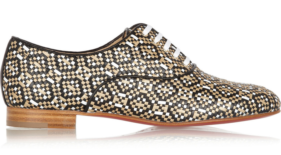 christian-louboutin-fred-metallic-woven-leather-brogues