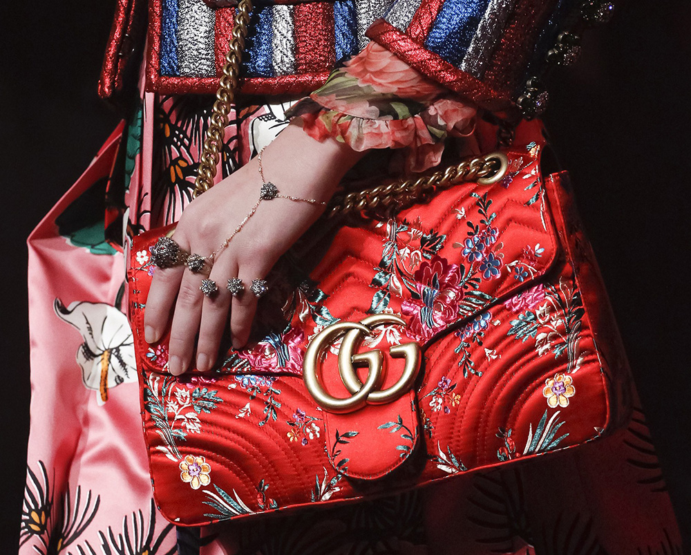 e50a82cae75dc Gucci s Spring 2017 Runway Bags are Just as Sumptuous and Detailed ...