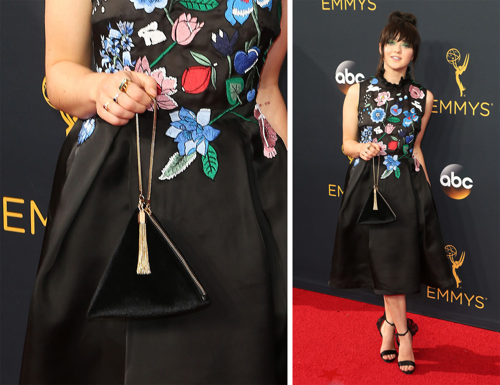 maisie-williams-charles-and-keith-evening-wristlet