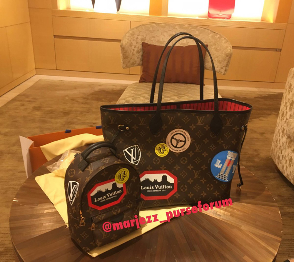 tPF Member: Marjezz Bag: Louis Vuitton Palm Springs Mini World Tour Louis Vuitton World Tour Neverfull Shop: Palm Springs $1,960 via Louis Vuitton and Neverfull $1,570 via Louis Vuitton
