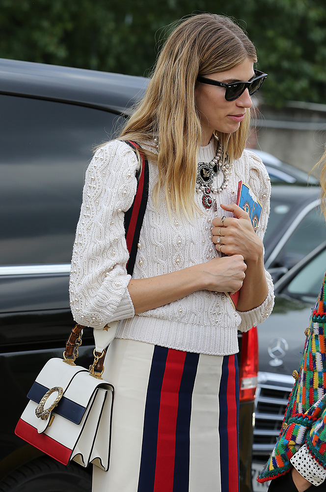 The Best Celebrity Bag Looks Of Milan Fashion Week Spring