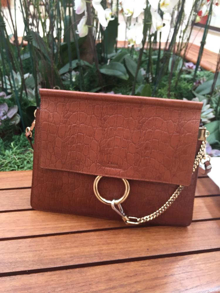 tPF Member: Heyrenee Bag: Chloeé Faye Croc Embossed Shoulder Bag  Shop: $2,250 via FWRD