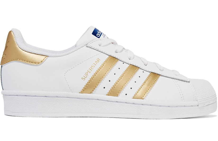 adidas-superstar-metallic-trimmed-leather-sneakers