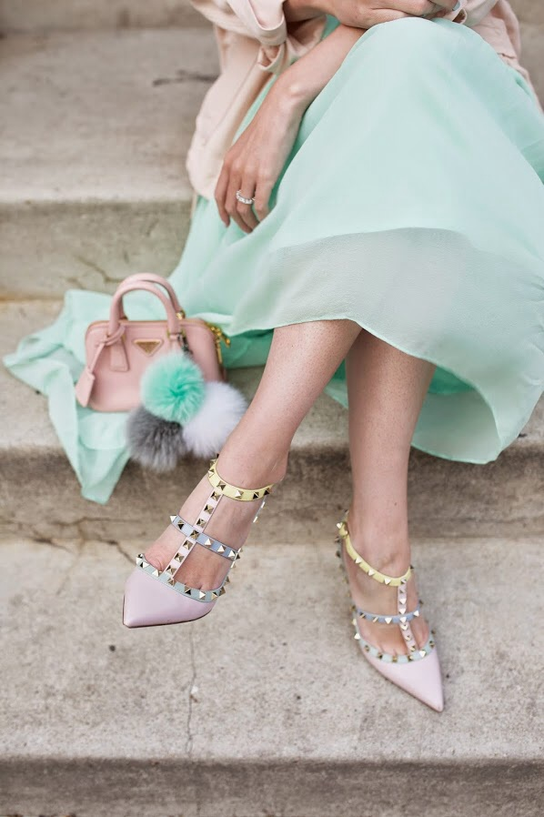 tPF Member: AuthenticPlease Shoes: Valentino Watercolor Rockstud Pumps  Shop: Similar styles via Neiman Marcus