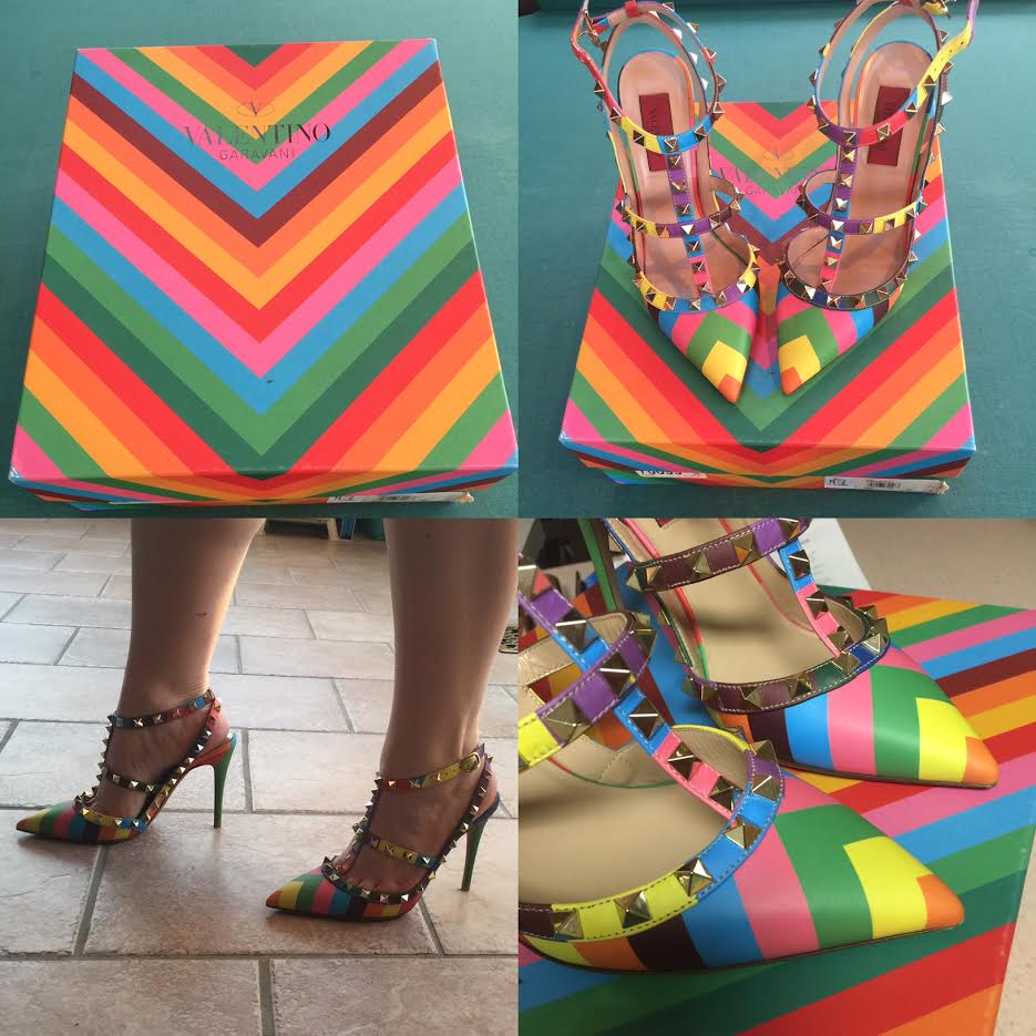 tPF Member: Chibbard  Shoes: Valentino Multicolor Rockstud Pumps Shop: Similar styles via Neiman Marcus