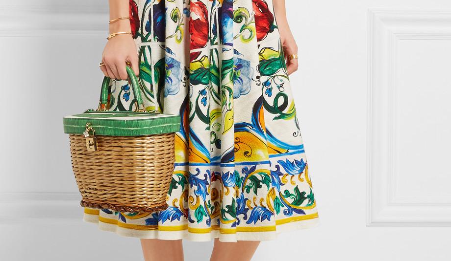 Dolce and Gabbana Wicker Basket Bag