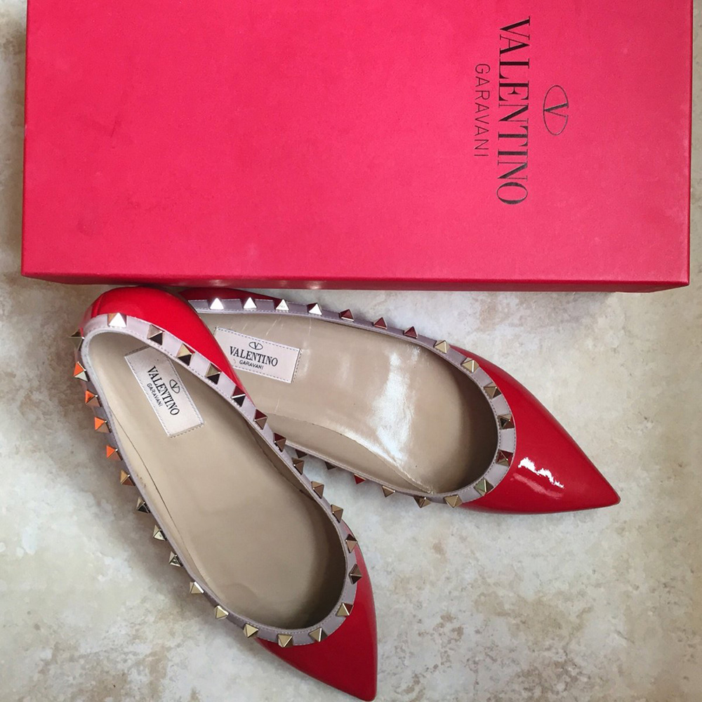 tPF Member: Harper Quinn  Shoes: Valentino Rockstud Ballerina Flat  Shop: $745 via Nordstrom