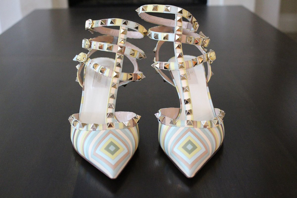 tPF Member: Ina_Loves_Bags Shoes: Valentino Rockstud Chevron Pumps Shop: Similar styles via Neiman Marcus