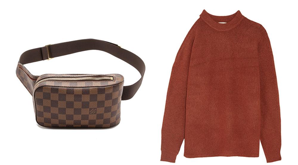 Louis Vuitton Geronimos Waist Bag $1,250 via ShopBop Tibi Cutout Oversized Knitted Sweater $395 via Net-a-Porter