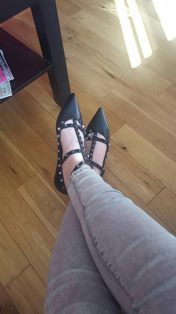 tPF Member: _Lee Shoes: Valentino Noir Rockstud Cage Ballerina Flat Shop: $995 via Neiman Marcus