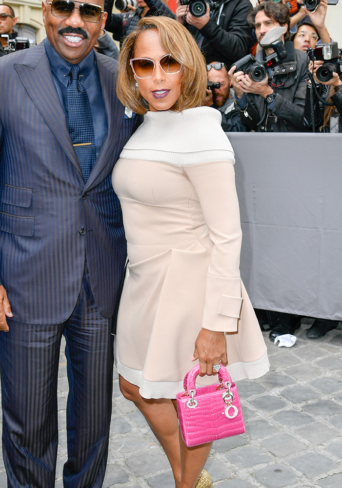 marjorie-harvey-dior-lady-dior-pink-crocodile