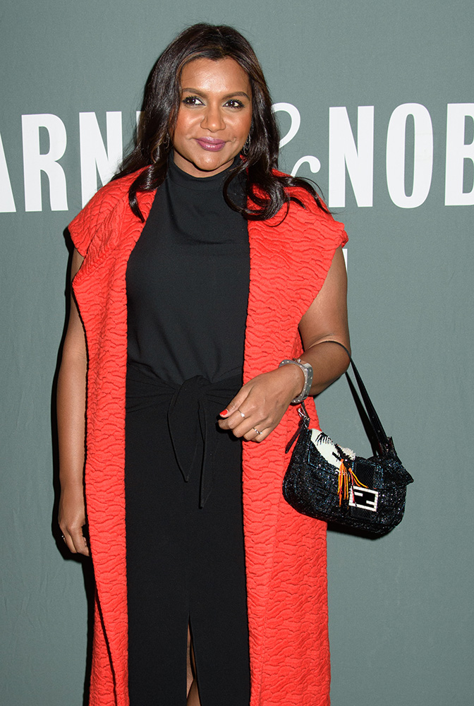 mindy-kaling-fendi-baguette-bag