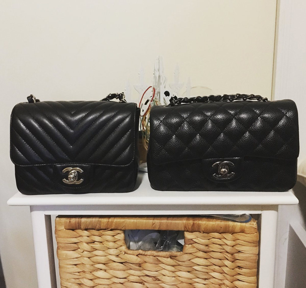 12cf2c6e5f44 tPF Member: Agnesman1996 Bag: Chanel Chevron Square Mini and Chanel  Rectangular Mini Flap Bag