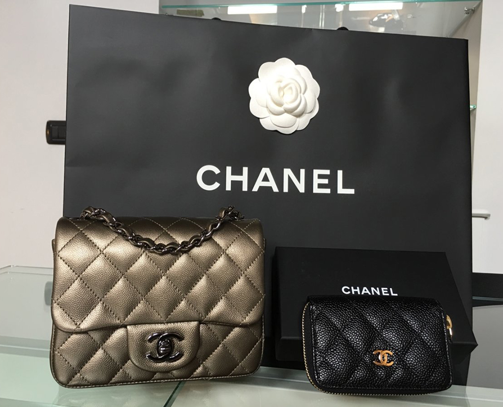 819b0bb05862 tPF Member  Kuching Bag  Chanel Metallic Square Mini Flap Bag and Chanel  Coin Purse