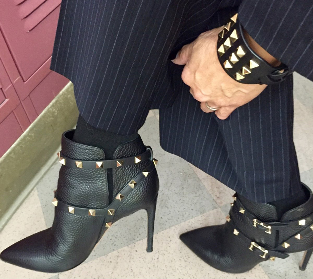 tPF Member: Tigertrixie Shoes: Valentino Rockstud Leather Booties  Shop: $1,375 via Neiman Marcus